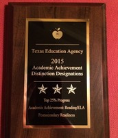 Plaque for our excellent STAAR performance