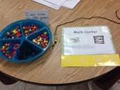Math Center-Lacing Beads