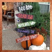 Halloween Directional Sign $25