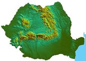 Poland topography map