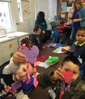 IB Students Volunteer at BHES for Valentine's Day
