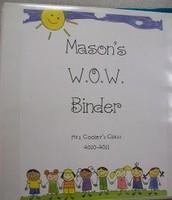 WOW binder