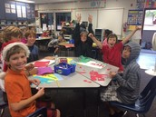Making holiday place mats in buddies
