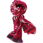 Palm Springs Scarf (Red Ikat)