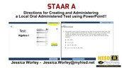 STAAR A Modified Test Creation