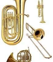 Tuba, trompeta, trombón y trompa