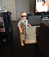 Brandon loves his new sunglasses