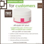 Free eye cream with $95 purchase