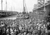 A Ship Leaving For The Klondike
