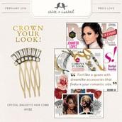 Bella Fiore + Hair Pin Trio or Jeweled Comb