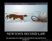 Newtons second law: