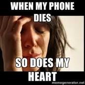 Whenever my phone dies.