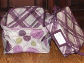 Perfect Potluck Set - Sketchy Dot & Plum Plaid