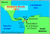 Balboa's route taken in 1513