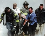 Body carried from the 9/11 attack
