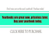 Don't Miss Out!  Buy a Yearbook Today!