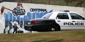 The mural and a cop car