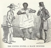 "Political Reconstruction Era Cartoon - ""The United States - A Black Business"""