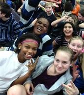 6th graders enjoy the pep rally!