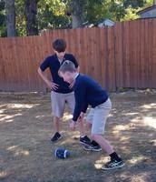 Playing ball at recess