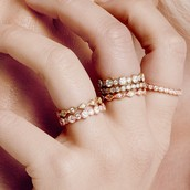 Exquisitely hand-crafted, the rings are reminescent of fine, heirloom jewelry