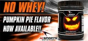 NO WHEY! is the new way to intake your protein, our newest pumpkin pie flavor is now available.