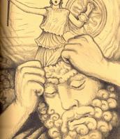 Athena guiding Odysseus