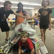 Newspaper Shelter Team Challenge!