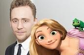 Tom Hiddleston and Rapunzel
