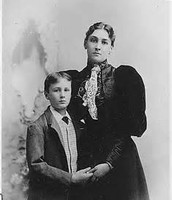 FDR and his mother