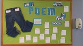 National Poetry Month Library Bulletin Board