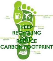 KEEP RECYCLING AND REDUCE CARBON FOOTPRINT