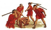 Romans being beaten