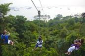 10.  Zip-line through the Amazon Rainforest!