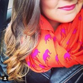 Union Square Scarf-Hot Pink Elephants $59
