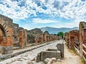 Pompeii covered in debris