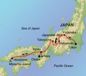 Map of modern japan