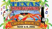 Flag of Texas crab festival