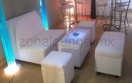 Sala lounge para seis personas con mesa iluminada $500