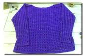 Blusa de tricot com brilho