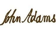 The signature of John Adams