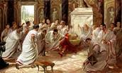 The killing of Julius Caesar