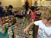 Intermediate students decorate and fill bags
