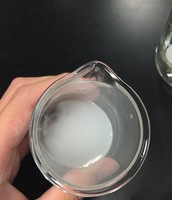 The precipitate kind of shown as milky white bottom(strontium sulfate)
