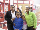 Principal Hawkins Out Supporting Literacy Night With Her Family!