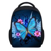 butterfly print school backpack
