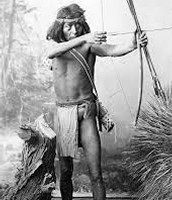 Mohave tribe man hunting