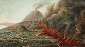 de uitbarsting van de Vesuvius