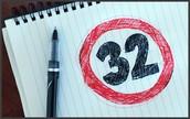 treinta y dos