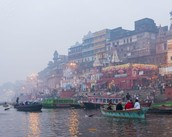 This is the Ganges river in India the most holy river in India